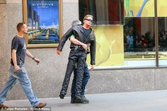 Is that Arnie? The dummy brought on set to take the impact of Bono's crash looked more like the Terminator
