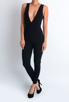 A Bit Laced Up Jumpsuit