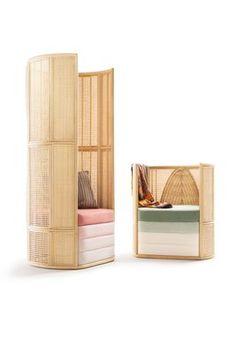 Lisetta Composition Lounge Chairs by Elena Salmistraro for Bottega Intreccio, Set of 2 for sale at Pamono Rattan, Wicker, Home Furniture, Furniture Design, Armchairs For Sale, Chair Design, Contemporary Design, Design Projects, Composition