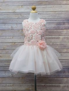 Gorgeous Sequin 3D Floral Tutu Dress