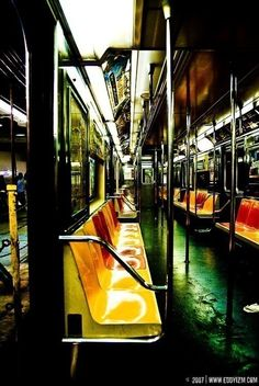 New York subway -- the way they looked when I left NY in 2000