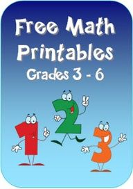 Free Math Printables for grades 3 - 6 in Laura Candlers online File Cabinet