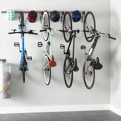 Garage Shelving, Basement Storage, Garage Storage, Bike Storage Garage Ceiling, Bike Storage Small Space, Storage Room, Bike Storage Solutions, Garage Solutions, Shelving Solutions