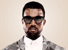 Omari West by Mirek Kodes Justin Maller, Polygon Art, High School Art, Mother Of Dragons, Low Poly, Types Of Art, Famous Faces, Photo Manipulation, Art Sketches