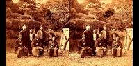 (左から)未詳・ロバート=ヴァン=ヴォールクンバーグ・勝海舟・稲葉正巳・未詳・未詳・江連尭則-ステレオ写真-