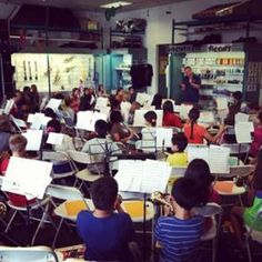 Bertrand's Music 30th Anniversary All County Band & Orchestra. 100 Elementary students were chosen for this Honor Group. Luke Diebolt Directing at Bertrand's Music PQ Store. Photo Credit: Courtesy @Bertrand's Music #musiced #bmac #band #patch #news