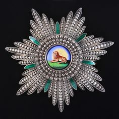 1st Class breast star Persia Lion and Sun Order by C.F. Rothe Austria.