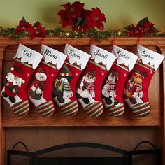 Winter Wonderland Stockings, personalized. This site has some other cute options as well.
