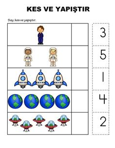 Planets Activities, Math Activities For Kids, Space Activities, Math For Kids, Classroom Activities, Kids Learning, Space Preschool, Puppy Room, Learning Numbers