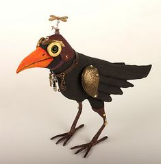 """LOL!!! Love this oh so perfect steampunk crow called """"Russell"""". artist? don't know!"""