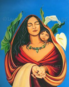 The Seeds of Love that we plant in our children continue to grow for generations. Artwork by Laura Vazquez Rodriguez Mexican Artwork, Mexican Paintings, Mexican Folk Art, Mexican Artists, Madonna, Illustrations, Illustration Art, Arte Latina, Hispanic Art