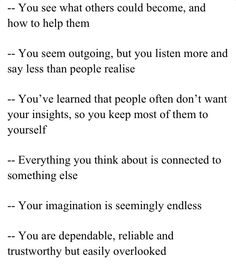 INFJ - It's so weird that this is totally me.