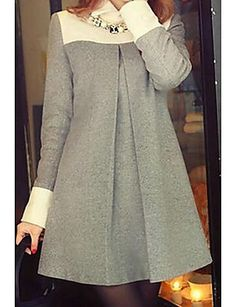 Winter dresses made of wool (traffic) / Thing / SECOND . Source by OfficeOutfitsOfficial dress outfit Simple Dresses, Cute Dresses, Casual Dresses, Elegant Dresses, Women's Casual, Casual Shirts, Hijab Fashion, Fashion Dresses, Fashion Fashion
