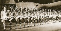 Rockettes at Radio City Music Hall during the 1940s.