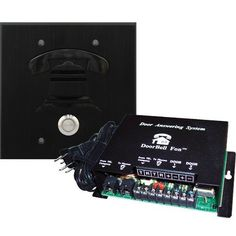 DoorBell Fon DP38BKF 2-Gang Door Station Kit - Black by American Computers. $239.95. When a visitor presses the button on the door intercom, the DoorBell Fon rings the phones in your home with a distinctive ring. Pick up the phone to converse with the door. If you are on the phone when a visitor arrives, a call waiting tone will sound to
