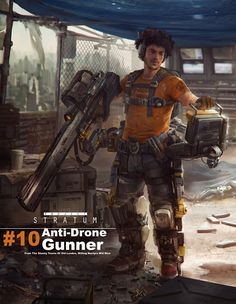 Anti-Drone Gunner. by J Clapham