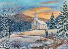The Climb - Limited Edition Art Print - William Mangum Fine Art Winter Painting, Winter Art, Christmas Paintings, Christmas Art, Patriotic Images, Mountain Art, Nature Paintings, Winter Scenes, American Artists