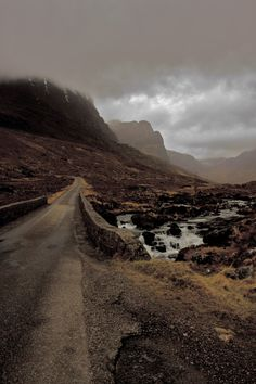 The start of the Bealach na Bà, Highland, Scotland.