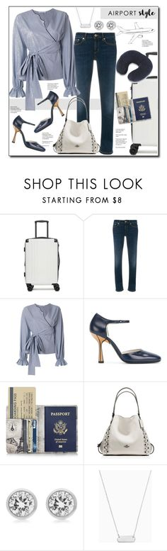 """Airport style"" by court8434 ❤ liked on Polyvore featuring CalPak, Dondup, VIVETTA, Marni, Michael Kors, Stella & Dot and airportstyle"
