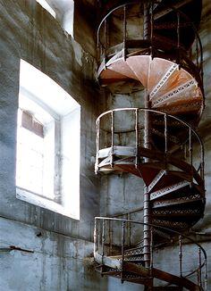 Abandoned Alcatraz in San Francisco, CA.