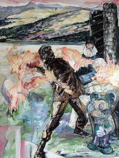 © mathieu boisadan, welcome to slumberland, 2015. acrylic and oil on canvas, 127x97cm.