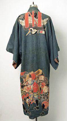 "thekimonogallery: "" Cotton maiwai kimono worn at fishing celebrations. Second quarter 20th century, Japan. MET Museum (Gift of Mrs. John Steel, 1980) """
