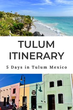 Perfect Tulum itinerary for 5 days in Tulum, with an option for 3 days in Tulum. Hit the beach, bike to ancient Mayan ruins and swim in a magical cenote! Mexico Destinations, Travel Destinations, Travel Usa, Travel Tips, Travel Guides, Cozumel, Tulum Cenotes, Costa Rica, Cabo San Lucas