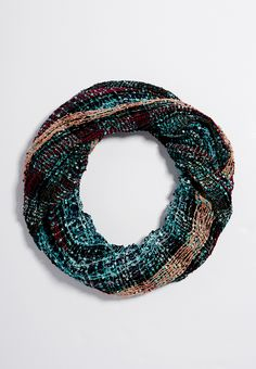 infinity scarf with open stitching in frozen lake combo - #maurices