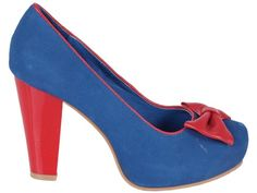 blue and red - cute