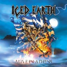 US heavy Metals band - Iced Earth, Live in Athens - Poster..