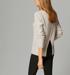 SEMI-BOAT-NECK OPEN-BACK SWEATER - Special Prices - WOMEN - Nederland/Netherlands