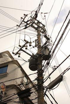 electric pole in Naha, Okinawa