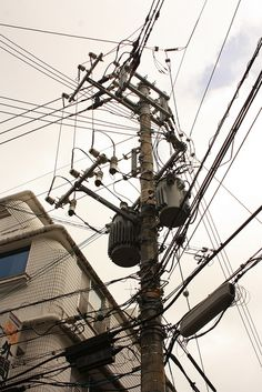 electric pole in Naha, Okinawa