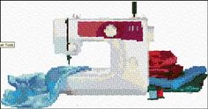 Sewing machine free cross stitch pattern