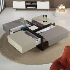 Furniture Design Living Room Table 47 Ideas For 2019 Modern Glass Coffee Table, Cool Coffee Tables, Coffe Table, Coffee Table Design, Table Furniture, Living Room Furniture, Home Furniture, Furniture Design, Folding Furniture