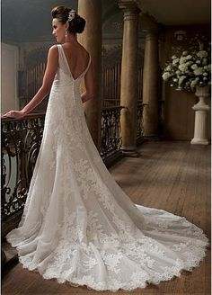 David Tutera wedding gown. We have this in different sizes in our store for brides to try on. This gown has elegant straps and looks good on many different body shapes