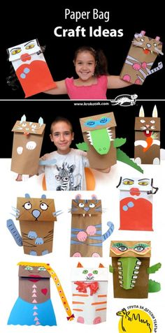 Funny Creatures with Paper Envelopes