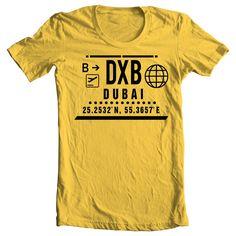 DXB - DUBAI CLEAR PORT T-SHIRT - YELLOW