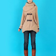 Norwegian Wood  extra thick woolen hood coat by idea2lifestyle, $118.00