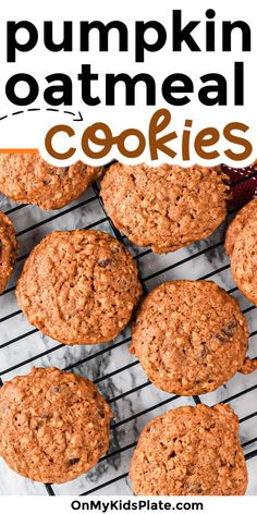 These pumpkin oatmeal cookies are bursting with pumpkin flavor! Theses cookeis are chewy, thick and not even a little cakey. Use these tips to make cookies that are crispy on the edges and chewy in the center every time. #pumpkincookies #oatmealcookies