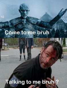 Rick grimes deal with a real walker now...
