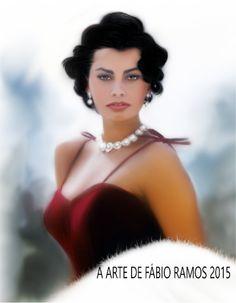 Título da obra : Sophia Loren Artista : Fábio Ramos Ano : 2015