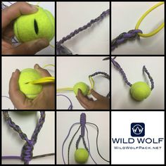 This week's paracord project is a Dog Chew Toy. You only need about 20 feet of paracord and a tennis ball. Make sure to check out our shop for all your paracord and paracord accessory needs. We hav… Homemade Paracord Dog Chew Toy - DIY⠀⠀ Homemade Dog Toys, Diy Dog Toys, Best Dog Toys, Dog Chew Toys, Toy Diy, Diy Dream Catcher, Paracord Dog Leash, Diy Dog Collar, Dog Hacks