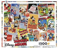Disney 1500 pc Puzzle - Mickey Vintage Posters
