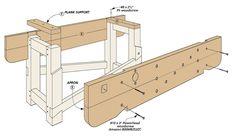 Craftsman Workbench, Workbench Plans, Cool Tools, Diy Tools, Woodworking Bench, Woodworking Projects, Woodsmith Plans, Workbench Designs, Bench With Storage