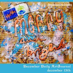 December Daily ArtJournal - December 13th - by Andrea Gomoll