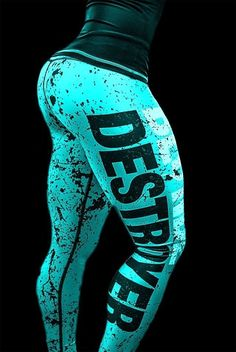 Blond Destroyer Women s Fitness Leggs/ Gym tights/ Sport pants/ Legging Size XS