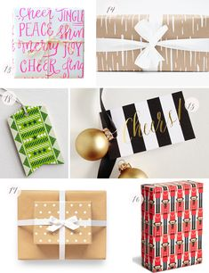 Seasonal Stationery: Holiday Gift Wrap + Tags | 13. Parrott Design Studio; 14. Meesch; 15. The Yellow Note; 16. Snow & Graham; 17. Sugar Paper; 18. Hammerpress | Click through for full links and resources!