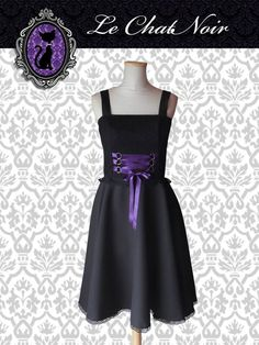 Vestido fiesta  estilo gótico #goth #gothdress #gothstyle #gothfashion #blackdress #dark #lace #ropa #indumentaria #gótica #dark #alternativa #vestidoelegante #vestido #encaje #cintas #negro #violeta