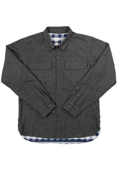Flint Wool Overshirt Charcoal
